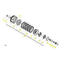 BENELLI BN 125 // (CHASIS) T008 KUPPLUNG