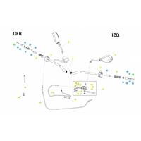 BENELLI BN 125 // (CHASIS) T021 LENKER UND STEUERORGANE