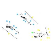 BENELLI BN 125 // (CHASIS) T020 RECHTEFUSSRASTE